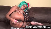 Msnovember Sticking My Sweet Ebony Black Ass Out & Pussy Playing With My Body In Sheer Stockings Body Suit HD Sheisnovember صورة