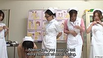 JAV CMNF group of nurses strip naked for pient Subtitled - 9Club.Top
