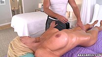 Massage Therapist gets Hard