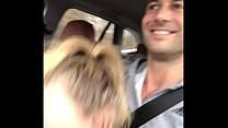 Sucking an amazing cock in the car ! Thumbnail