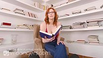 VR BANGERS Redhead teacher Maitland Ward is getting horny