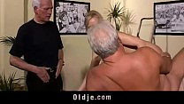 Hot old young threesome fuck preview image
