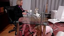 Cleaning Woman And The Mature Boss Having Sex In The Office - Scarlett Sage and Dee Williams preview image