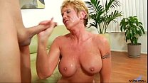 Older granny takes hard pounding video