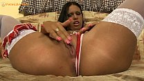 Hot Latina gets of on her big dildos