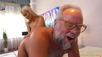 Chary Kiss and her a much older lover - Grandpas Fuck Teens preview image