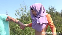 Czech teen muslim girl Mila Fox and her horny boyfriend were on a walk. Randy guy thinks only of sex. They enjoyed outdoor sex with a view of beautiful Prague. Thumbnail