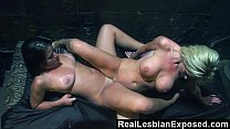 RealLesbianExposed - Teaching a Rude Customer a Lesson