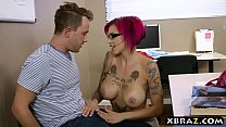 Sexy teacher with big tits seduces lucky student guy thumbnail