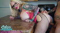 Sabrina Sabrok anal and pussy fucked in the kitchen