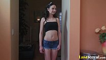 Hot creampie for the petite beauty Sasha Yung