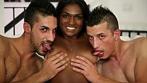 CASTING ALLA ITALIANA - Indian babe Maya Secret banged in hot interracial MMF