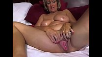 Cougar Milf-enjoys Masturbating with Dildo on Cam