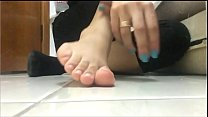 Black Socks Removal and Spit Feet's Thumb