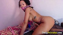 Tattooed ebony fantasia spanking a black butt