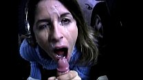 Blowjob And Great Facial In Parking