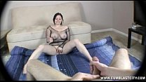 12634 Hot brunette gets cumblasted preview