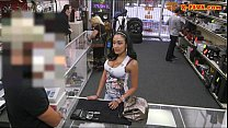 Busty latin chick fucked by pawnkeeper at the pawnshop thumbnail