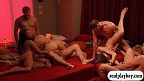 Nympho couples swap partners and orgy