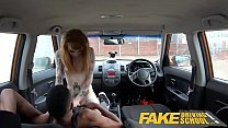 Fake Driving School Redhead horny minx quirts on mechanics big black cock