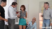 Anal Gangbang of Tina Hot Has Her Multi-dicksucking and DP'd by Four Guys