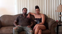 Horny black couple fucked on video for the first time