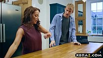 Busty mother in law seduces the husband in the kitchen pornhub video