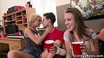 Wild college girls interracial