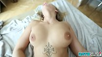 Date Slam - Sexy Blonde Instagram Slut Gets Bald Pussy Creampie thumbnail