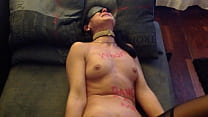 German mature sex slave whore bound gagged & dildo