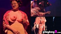 Ebony womans show how to satisfy herself with a...