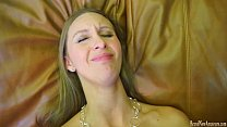 Super hot amateur does it all on a casting couch thumb