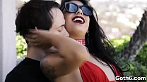 Seductive babe Gina Valentina enjoys riding with lovers huge cock like a professional cowgirl.