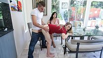 Stepsister Violet Storm Catches Mom and Son In The Act, And Joins In On The Fun - Becky Bandini