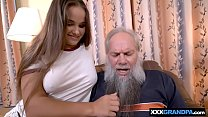 Screenshot Grandpa With A Grey Beard Fucking A Curvy Teen