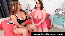 All Natural Maggie Green Gets Mouth Cummed In B...