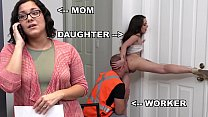 BANGBROS - Teen PAWG Gia Paige Taking Dick From Roofter Sean Lawless Behind Mommy's Back