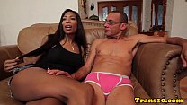 Bigbooty costumed ebony beauty rides cock