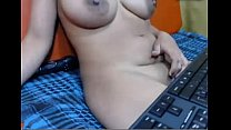 Desi aunty sitt ing in sofa and showing in sky  showing in skype