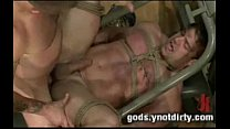 Muscle boy tied up and fucked by the janitor