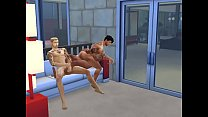 4 cocks to 3 pussies (The sims 4)