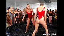 Top lesbian getting all messy in amateurs catfight movie scene
