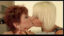 Short Hair Redhead Granny Eats Young Blonde Lesbian Cunt