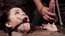 Asian slave rough doggy fucked bdsm