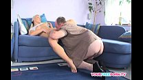Blond Girl Fucks Best Friend's Daddy at her Place preview image