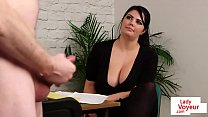 bigtitted british voyeur encourages her sub pornhub video
