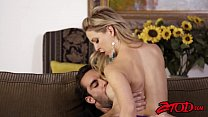 Cuckold MILF Cherie Deville tasting sticky cum from young dick