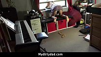 Step Daughter Spanked and Fucked For Sneaking Out | Creampie