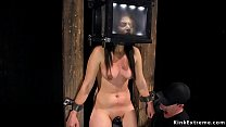 Fresh meat in device bondage vibrated - blonde teen pussy thumbnail