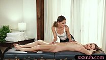 Masseuse and client makeout on the table - 9Club.Top